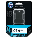 HP 02, Black Original Ink Cartridge HEWC8721WN