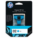 HP 02, Cyan Original Ink Cartridge HEWC8771WN