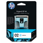 HP 02, Light Cyan Original Ink Cartridge HEWC8774WN