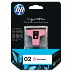 HP 02, Light Magenta Original Ink Cartridge HEWC8775WN