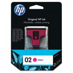 HP 02, Magenta Original Ink Cartridge HEWC8772WN
