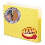 "Smead 1 3/4"" Exp Colored File Pocket, Straight Tab, Letter, Yellow SMD73223"