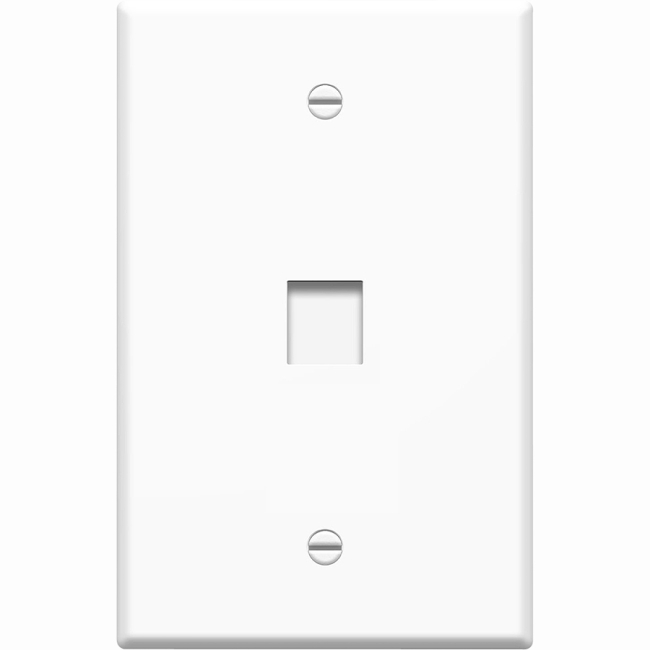 4xem 1 port  outlet rj45 cat5  cat6 ethernet wall plate
