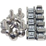 StarTech.com 100 Pkg M6 Mounting Screws and Cage Nuts for Server Rack Cabinet CABSCREWM62
