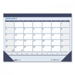 House of Doolittle 100% Recycled Contempo Desk Pad Calendar, 22 x 17, Blue, 2020 HOD151
