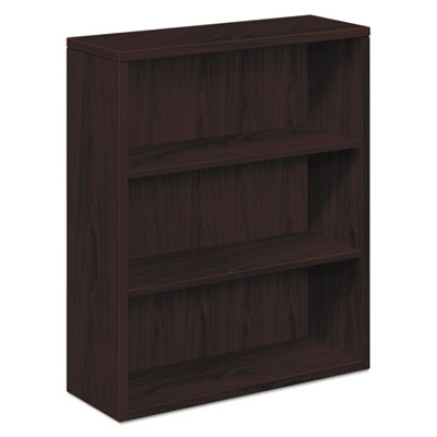 HON H105533.NN 10500 Series Laminate Bookcase, Three-Shelf, 36w x 13-1/8d x 43-3/8h, Mahogany HON105533NN