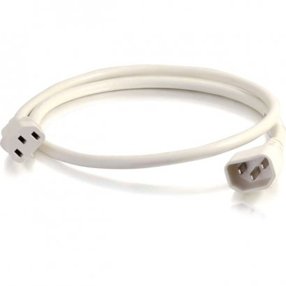 C2G 10ft 18AWG Power Cord (IEC320C14 to IEC320C13) - White 17521