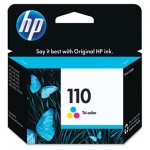 HP 110, Tri-color Original Ink Cartridge HEWCB304AN