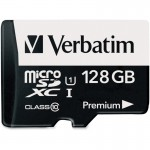 128GB Premium microSDXC Memory Card with Adapter, UHS-I Class 10 44085
