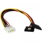 StarTech 12in LP4 to 2x SATA Power Y Cable Adapter PYO2LP4SATA