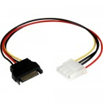 StarTech 12in SATA to Molex LP4 Power Cable Adapter - F/M LP4SATAFM12