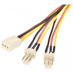StarTech 12in TX3 Fan Power Splitter Cable TX3SPLIT12