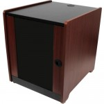 StarTech.com 12U Office Server Cabinet w/ Wood Finish and Casters RKWOODCAB12
