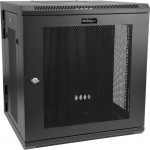 StarTech.com 12U Wall-Mount Server Rack Cabinet - Up to 17 in. Deep - Hinged Enclosure RK12WALHM