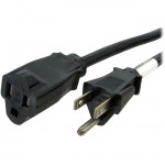 StarTech 15 ft Power Cord Extension - NEMA 5-15R to NEMA 5-15P PAC10115