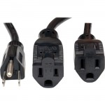 Tripp Lite 18-in. 16AWG, 13A Power Splitter Cord (NEMA 5-15P to 2 x NEMA 5-15R) P024-18N