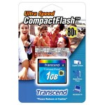 Transcend 1GB CompactFlash Card - 80x TS1GCF80