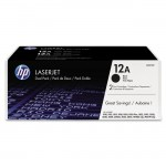HP 2-pack Black Original LaserJet Toner Cartridges Q2612D
