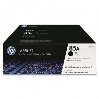 HP 2-pack Black Original LaserJet Toner Cartridges CE285D