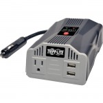 Tripp Lite 200W PowerVerter Ultra-Compact Car Inverter with Outlet and 2 USB Charging Ports PV200USB