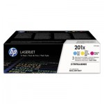 HP 201X (CF253X-M) 3-pack High Yield Cyan/Magenta/Yellow Original LaserJet Toner HEWCF253XM