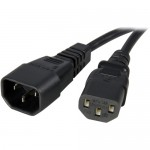 StarTech 3 ft 14AWG Computer Power Cord Extension - C14 to C13 Power Cable PXT100143