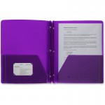 3-Hole Punched Poly Portfolios 20885