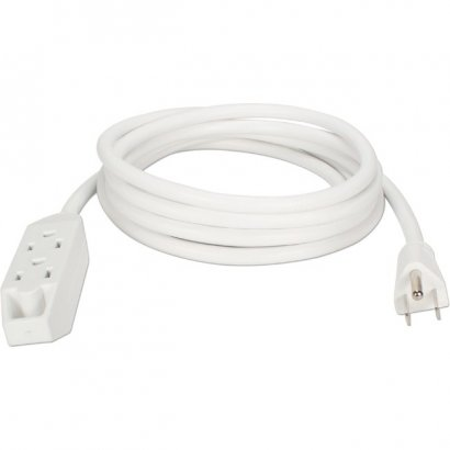 QVS 3-Outlet 3-Prong 15ft Power Extension Cord PC3PX-15WH