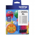Brother 3-Pack High Yield Ink Cartridges LC2033PKS