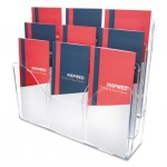 deflecto 3-Tier Document Organizer w/6 Removable Dividers, 13 3/8 x 3 1/2 x 11 1/2