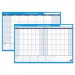 At-A-Glance 30/60-Day Undated Horizontal Erasable Wall Planner, 36 x 24, White/Blue AAGPM23328