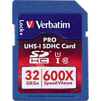 Verbatim 32GB PRO Secure Digital High Capacity (SDHC) - Class 10/UHS-I - 600x 98047