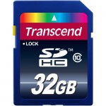 Transcend 32GB Secure Digital High Capacity (SDHC) Card - Class 10 TS32GSDHC10