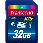 Transcend 32GB Secure Digital High Capacity (SDHC) - Class 10/UHS-I TS32GSDU1