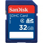 SanDisk 32GB Secure Digital High Capacity (SDHC) Card - Class 4 SDSDB-032G-A46