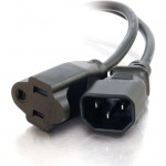 C2G 3ft 18 AWG Monitor Power Adapter Cord (IEC320C14 to NEMA 5-15R) 03132