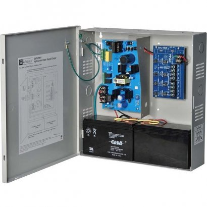 Altronix 4 Fused Outputs Supervised Power Supply/Charger. 12/24VDC @ 4A. Grey Encl SMP5PMP4