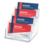 deflecto 4-Pocket Business Card Holder, 200 Card Cap, 3 15/16 x 3 3/4 x 3 1/2