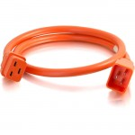 C2G 4ft 12AWG Power Cord (IEC320C20 to IEC320C19) - Orange 17728