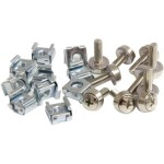 StarTech.com 50 Pkg M5 Mounting Screws and Cage Nuts for Server Rack Cabinet CABSCREWM5
