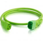 C2G 5ft 18AWG Power Cord (IEC320C14 to IEC320C13) - Green 17501