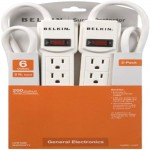 Belkin 6-Outlets Surge Suppressor F5C048-2