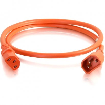 C2G 6ft 14AWG Power Cord (IEC320C14 to IEC320C13) - Orange 17554