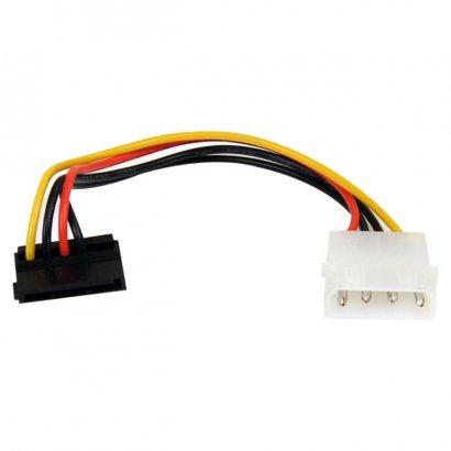 StarTech 6in 4 Pin Molex to Right Angle SATA Power Cable Adapter SATAPOWADAPR