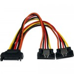 StarTech 6in Latching SATA Power Y Splitter Cable Adapter - M/F PYO2LSATA