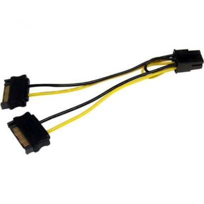 StarTech 6in SATA Power to 6 Pin PCI Express Video Card Power Cable Adapter SATPCIEXADAP