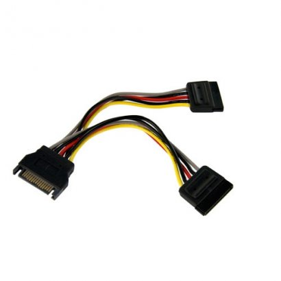 StarTech 6in SATA Power Y Splitter Cable Adapter PYO2SATA