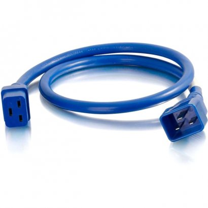 C2G 8ft 12AWG Power Cord (IEC320C20 to IEC320C19) - Blue 17744