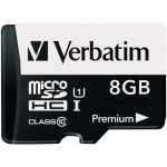 8GB Premium microSDHC Memory Card with Adapter, UHS-I Class 10 44081