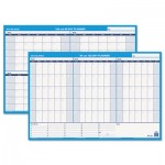 At-A-Glance 90/120-Day Undated Horizontal Erasable Wall Planner, 36 x 24, White/Blue AAGPM23928